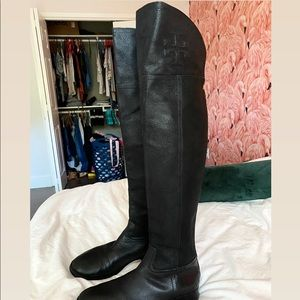Tory Burch Over the Knee Leather Boots
